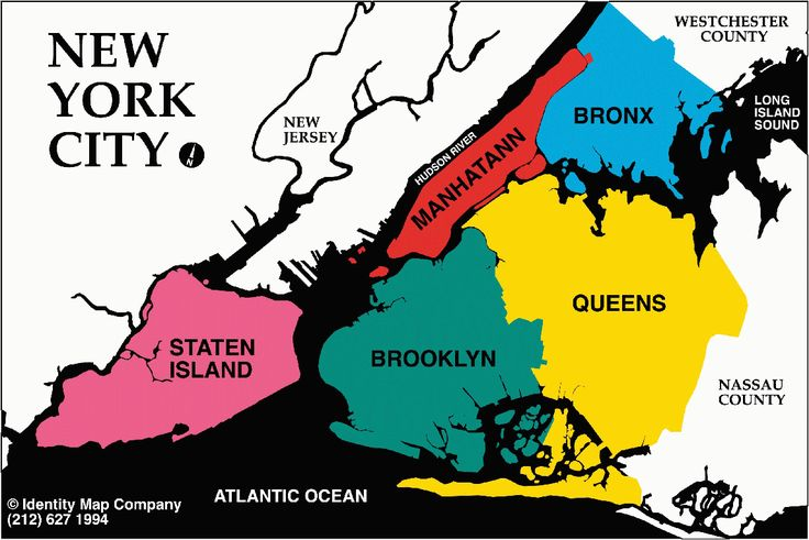 Boroughs New York City Map The Boroughs New